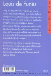 Louis De Funes - Liv - 4ème de couverture - Format classique