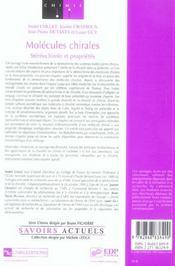 Molecules chirales - 4ème de couverture - Format classique