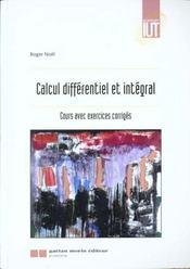 Calcul Differentiel Et Integral - Intérieur - Format classique