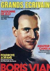 Grands Ecrivains - N°8 - Passionne De Jazz - Amateur De Canulars - Boris Vian - Couverture - Format classique