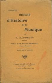 Resume D'Histoire De La Musique - Couverture - Format classique