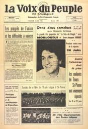 Voix Du Peuple De Touraine (La) N°1299 du 19/06/1966 - Couverture - Format classique