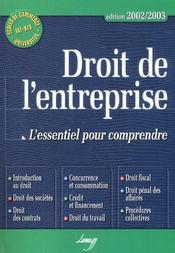 Droit de l'entreprise ; 7e edition - Intérieur - Format classique