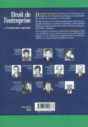 Droit de l'entreprise ; 7e edition - 4ème de couverture - Format classique