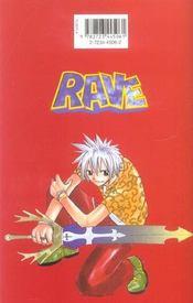 Rave t.9 - 4ème de couverture - Format classique