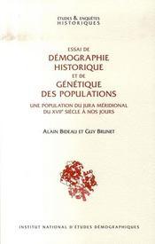 Essai de démographie historique et de génétique des populations - Intérieur - Format classique