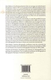 Essai de démographie historique et de génétique des populations - 4ème de couverture - Format classique