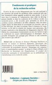 Fondements Et Pratiques De La Recherche-Action - 4ème de couverture - Format classique
