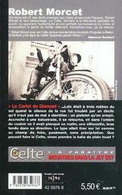 Le Celte.. 23. Le cartel du diamant - 4ème de couverture - Format classique