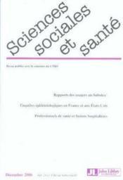Rapports des usagers au Subutex® ; enquêtes épidémiologiques en France et aux Etats-Unis ; professionnels de santé et fusions hospitalières - Couverture - Format classique