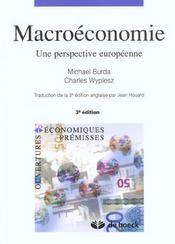 Macroeconomie Une Perspective Europeenne - Intérieur - Format classique