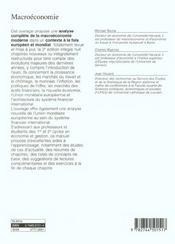 Macroeconomie Une Perspective Europeenne - 4ème de couverture - Format classique