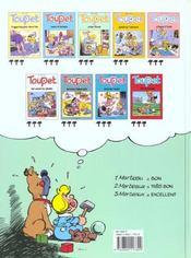 Toupet t.3 ; Toupet crève l'écran - 4ème de couverture - Format classique