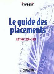 Investir ; Le Guide Des Placements 2000-2001 - Intérieur - Format classique