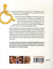 Gym douce pour les personnes handicapées (ou à mobilité réduite) ; 400 exercices pratiques et ludiques - 4ème de couverture - Format classique