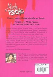 Mode psycho - 4ème de couverture - Format classique