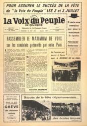 Voix Du Peuple De Touraine (La) N°1300 du 26/06/1966 - Couverture - Format classique