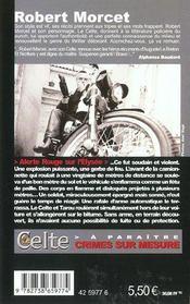 Alerte Rouge Sur L'Elysee - 4ème de couverture - Format classique