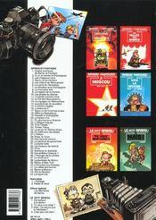 Spirou et Fantasio t.42 ; Spirou et Fantasio à Moscou - 4ème de couverture - Format classique