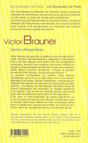 Victor Brauner - 4ème de couverture - Format classique
