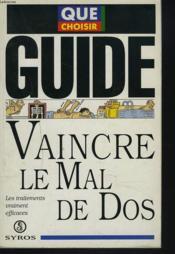 Vaincre Le Mal De Dos - Couverture - Format classique