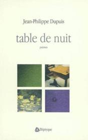 Table de nuit - Couverture - Format classique