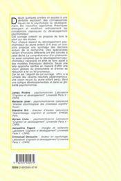 Developpement Psychomoteur Du Jeune Enfant (Le) - 4ème de couverture - Format classique