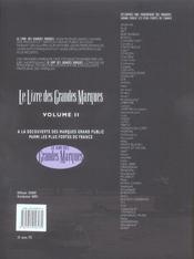 Le livre des grandes marques t.2 - 4ème de couverture - Format classique