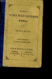 Selecta Marci Tulii Ciceronis Opera - Tomus Xi - Couverture - Format classique