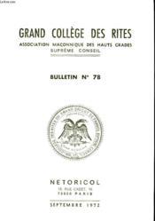 Grand College Des Rites - N°78 - Couverture - Format classique