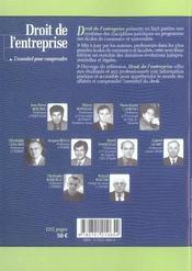 Droit de l entreprise 2004-2005. l'essentiel pour comprendre - 4ème de couverture - Format classique