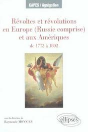 Révoltes et révolutions en europe (russie comprise) et aux amériques de 1773 à 1802 - Intérieur - Format classique