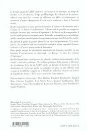 Révoltes et révolutions en europe (russie comprise) et aux amériques de 1773 à 1802 - 4ème de couverture - Format classique