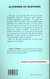 Alzheimer au quotidien - 4ème de couverture - Format classique