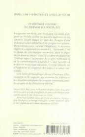 La Veritable Histoire Du Dernier Roi Socialiste - 4ème de couverture - Format classique