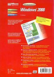 Guidexpress windows 2000 - 4ème de couverture - Format classique