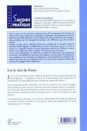 Lire Le Recit De Fiction Pour Etayer Un Apprentissage : Theor.+Pr - 4ème de couverture - Format classique