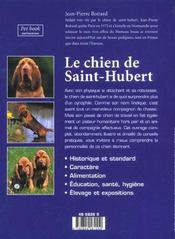 Le chien de saint-hubert - 4ème de couverture - Format classique