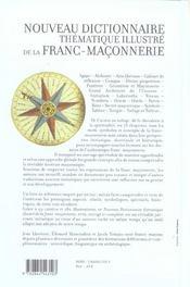 Nouveau Dictionnaire Thematique De La Franc Maconnerie - 4ème de couverture - Format classique