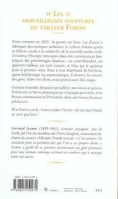 Les Merveilleuses Aventures Du Tailleur Fokine - 4ème de couverture - Format classique