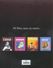 Kador t.3 - 4ème de couverture - Format classique
