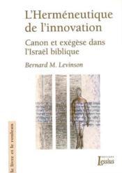 Hermeneutique De L'Innovation - Couverture - Format classique