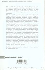 Les Papiers D'Un Laboureur Au Siecle Des Lumieres ; Pierre Bordier (1713-1781): Une Culture Paysanne - 4ème de couverture - Format classique