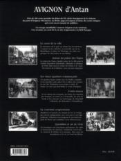 Avignon d'antan ; Avignon à travers la carte postale ancienne - 4ème de couverture - Format classique