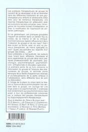 Groupes Et Psychomotricite - 4ème de couverture - Format classique