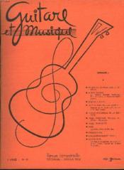 Guitare Et Musique. Revue Bimestrielle N°15, Dec-Janv. 1958. Ce Que La Guitare Doit A Segvia / Albert Roussel Par Helene Jouradan... / Segovia A Pleyel / Faut-Ilreediter J.-S. Bach ? / ... - Couverture - Format classique
