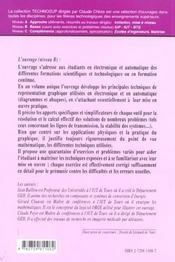 Electronique Et Automatique L'Outil Graphique En Electronique Et Automatique Black Bode Nyquist - 4ème de couverture - Format classique