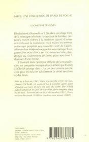 Le Cimetiere Des Reves Et Autres Nouvelles - 4ème de couverture - Format classique