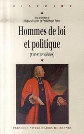 Hommes de loi et politique, xvi-xviii siècles - Intérieur - Format classique