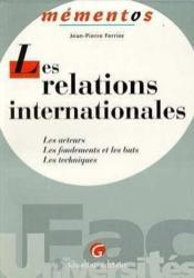 Relations internationales - Couverture - Format classique